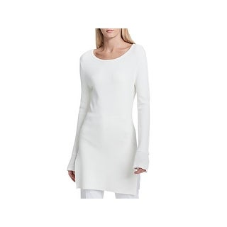 Calvin Klein Womens Pullover Sweater Crewneck Flare Sleeves