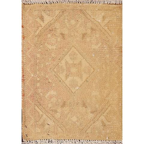 "Traditional Geometric Hamedan Persian Area Rug Handmade Wool Carpet - 1'4"" x 1'9"""