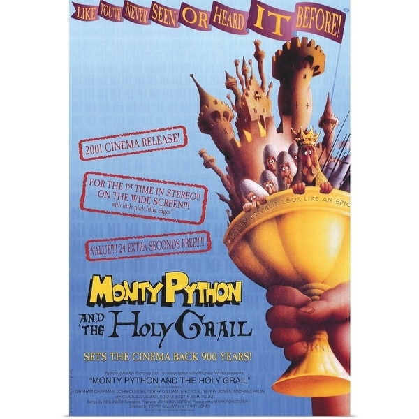 5d4ced23e Poster Print entitled Monty Python and the Holy Grail (1975) - Multi-color