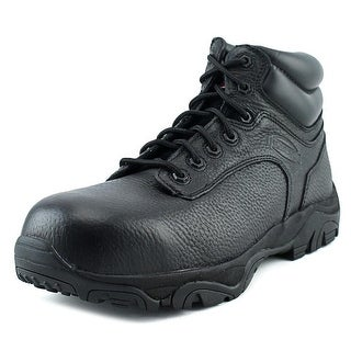 Iron Age Trencher Men W Steel Toe Leather Black Work Boot