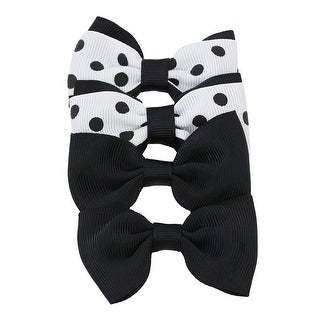 Gum Drop Polka Dot Grosgrain Bow Clip Set