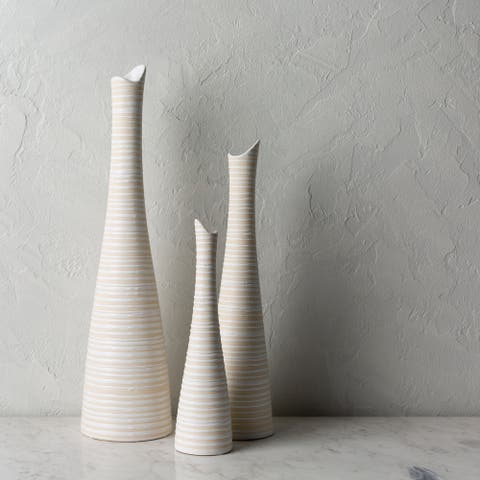 Valens Global Ceramic Outdoor Safe Vase Set (3 Pieces)