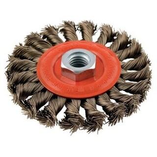 "Forney 72759 Twist Knot Wire Wheel Brush, 4"""