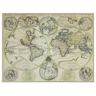 """Map of the world"" Poster Print"
