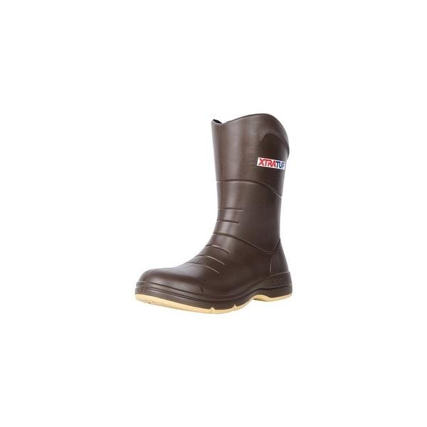 Xtratuf Men's Commander Fishing Tan Boots w/ Non-Marking Chevron Outsole - Size 14