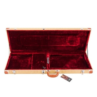 High Grade Acoustic Wooden Leather Electric Guitar Square Hard Case