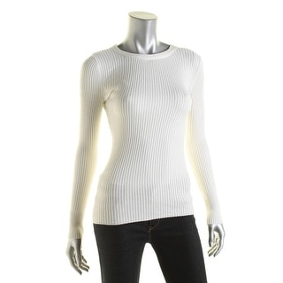 Hooked Up Womens Ribbed Long Sleeves Pullover Sweater