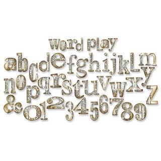 """Sizzix Bigz XL Die By Tim Holtz 6""""X13.75""""-Word Play Alphabet 1"""" To 2"""""""