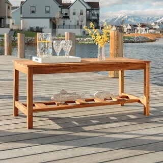 Surfside Acacia Ladder Base Outdoor Coffee Table by Havenside Home