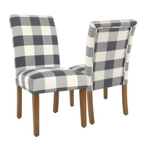 HomePop Parsons Dining Chair - Blue Plaid (set of 2)