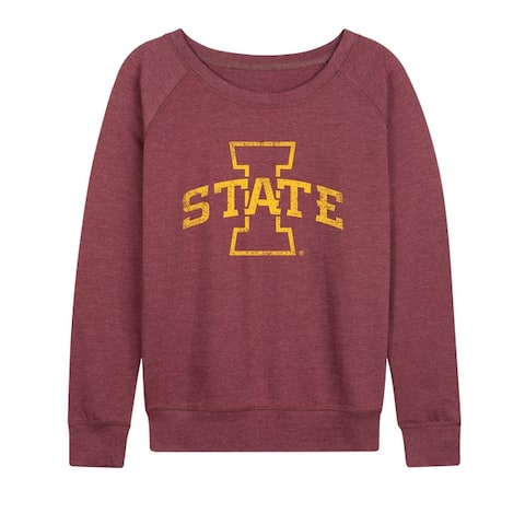 Iowa State - Women's French Terry Pullover - Heather Maroon