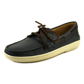 Tod's Barca Marlin Hyannisport Youth Moc Toe Suede Blue Boat Shoe