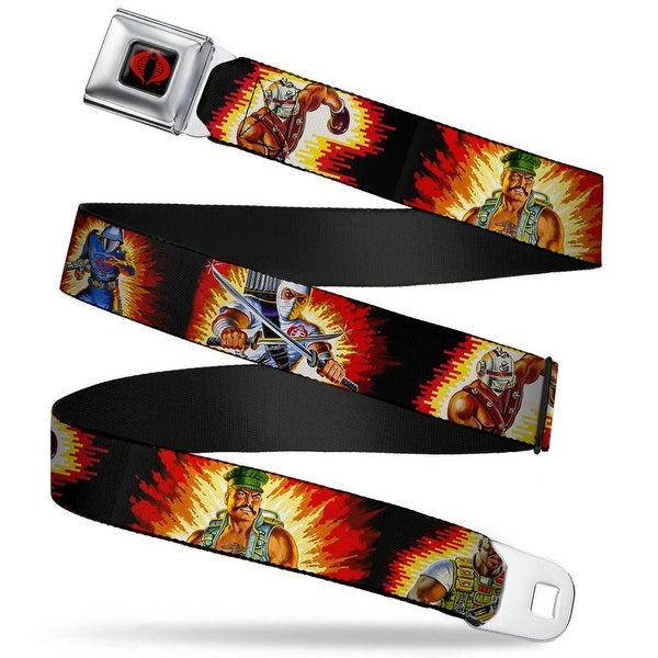 Gi Joe Cobra Logo Full Color Black Red Gi Joe Character File Card Poses Seatbelt Belt