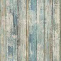 "RoomMates RMK9052WP 20-1/2"" x 198"" - Blue Distressed Wood - Self Adhesive Vinyl Film - 28.18 Sq. Ft. - N/A"