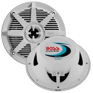 """Boss 5.25"""" 2-Way Coaxial Marine Speaker 150W White"""