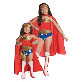 Rubies Deluxe Wonder Woman Toddler/Child Costume - Red/blue
