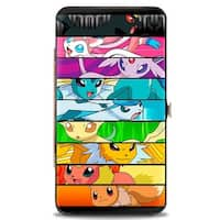 Eevee Evolution Close Up Faces Striping Hinged Wallet - One Size Fits most