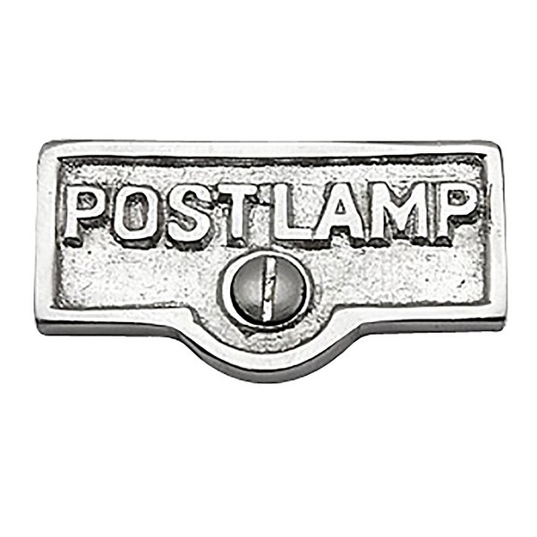 Switch Plate Tags POST LAMP Name Signs Labels Chrome Brass | Renovator's Supply