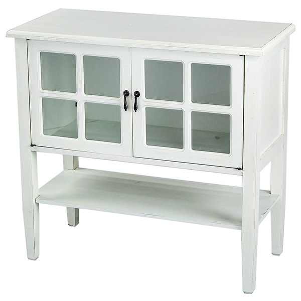 Shop 2-Door Console Cabinet W/ Paned Glass Inserts And