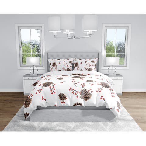 PINECONE RED Duvet Cover By Kavka Designs