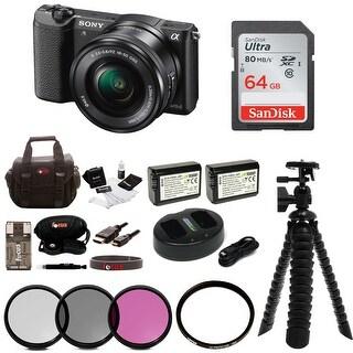 Sony Alpha a5100 Mirrorless Digital Camera w/ 16-50mm Lens & 64GB SD Card Bundle