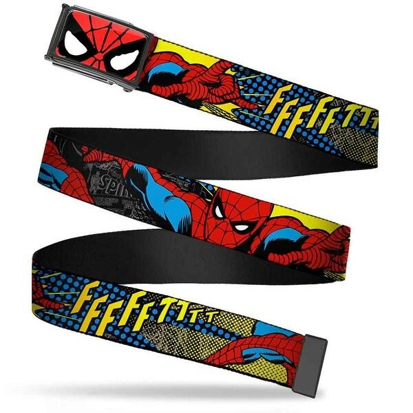 Marvel Comics Spider Man Face Close Up Fcg Chrome Spider Man Ffffftttt Web Belt