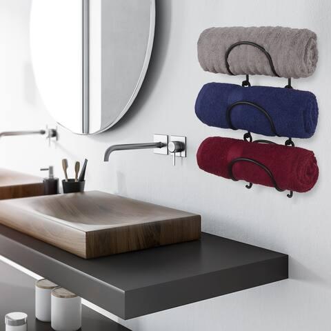 Wallniture Boto Towel Rack, Rustic Wall Decor Bathroom Organizer (Set of 3)