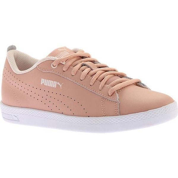 2159164480a0 Shop PUMA Women s Smash V2 L Perf Sneaker Peach Beige Peach Beige ...