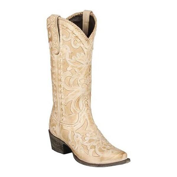 2a2fed5cdab2 Shop Lane Boots Women s Robin Cowgirl Boot Bone Full Grain Leather ...