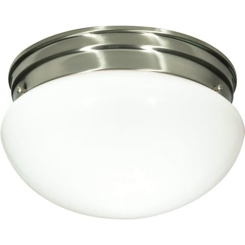 "Nuvo Lighting 76/603 2 Light 9-1/2"" Wide Flush Mount Bowl Ceiling Fixture"
