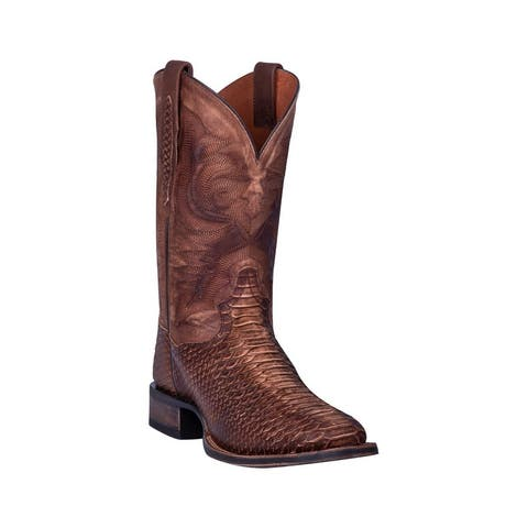 Dan Post Western Boots Mens KA Python Print Square Toe Saddle