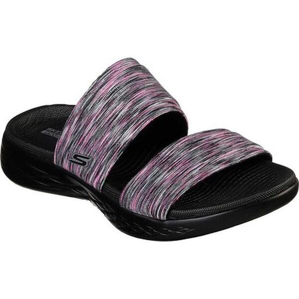 GO 600 Bedazzling Slide Sandal Black
