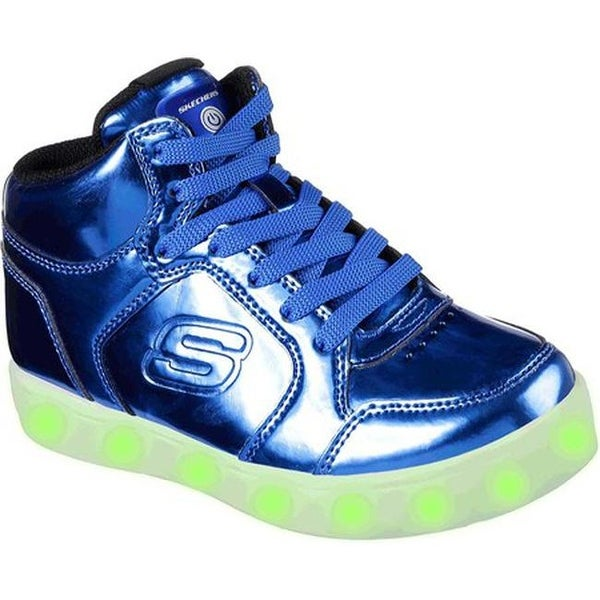 d4c0a0016b17 Skechers Children  x27 s S Lights Energy Lights Eliptic High Top Sneaker  Royal