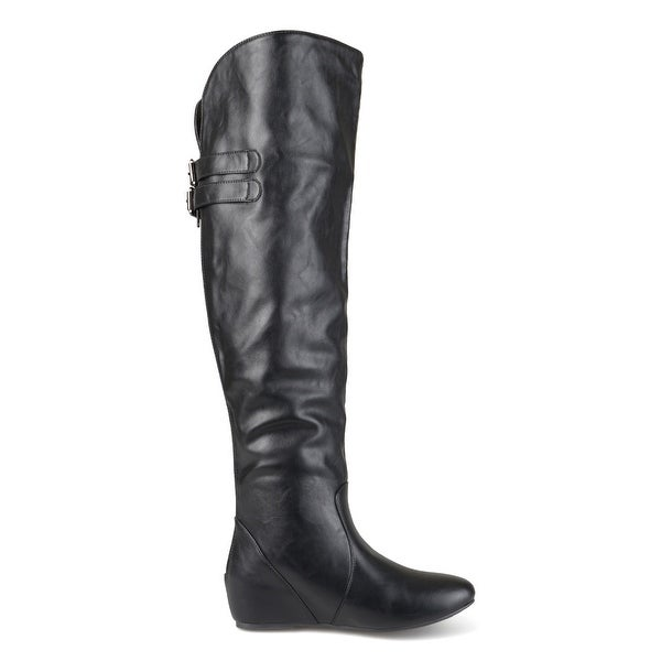 Journee Collection Womens Angel Round Toe Over Knee Fashion Boots - 9