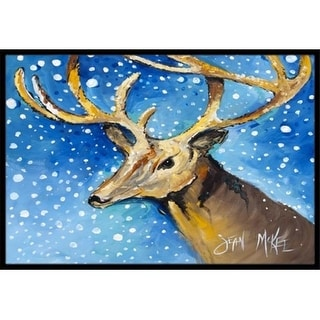 Carolines Treasures JMK1009MAT Reindeer Indoor & Outdoor Mat 18 x 27 in.