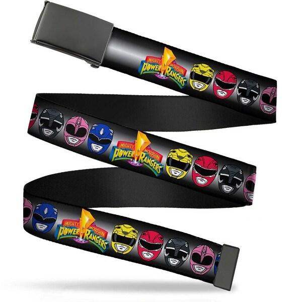 Blank Black Buckle Power Rangers Faces W Mighty Morphin Power Rangers Web Belt