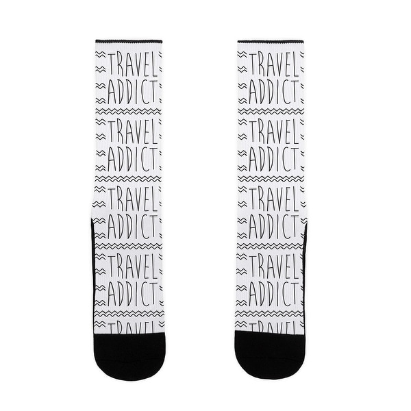 Travel Addict US Size 7-13 Socks by LookHUMAN