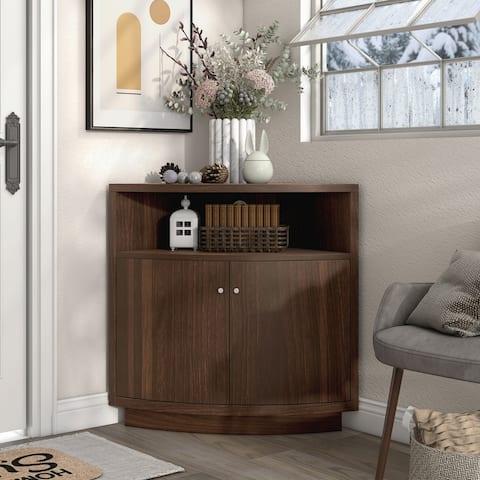 Porch & Den Wilson 3-shelf Corner Buffet
