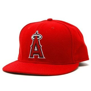 Anaheim Angels NEW ERA Fitted Baseball Hat- Red, 7 1/2