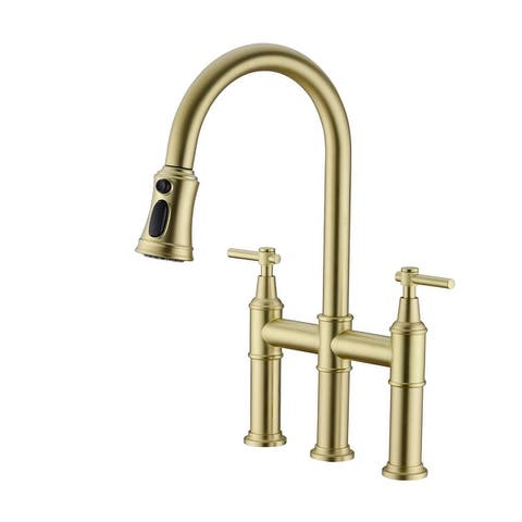 Siavonce Bridge Kitchen Faucet with Pull-Down Sprayhead - 16.14*7.87*17.32INCH