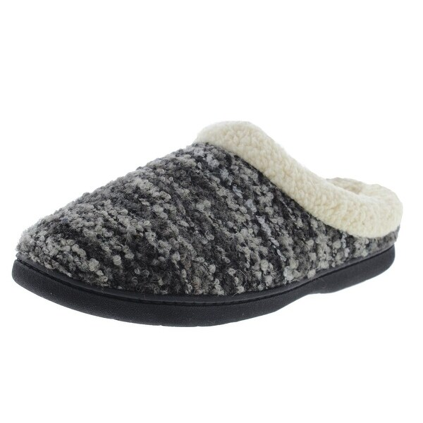Dearfoams Womens Scuff Slippers Wool Blend Memory Foam - 7-8 medium (b,m)
