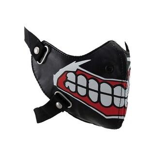 Big Evil Clown Smile Vinyl Half Face Riding mask