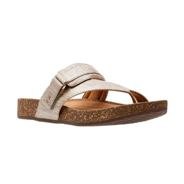 Shop Clarks Womens Rosilla Durham Open Toe Casual Slide