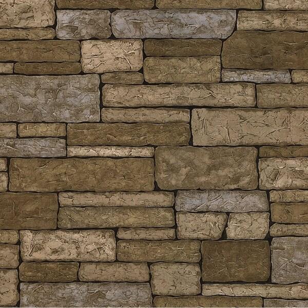 Brewster 412-41391 Bristol 56 Sq.Ft. Brick Imitating Wallpaper - One Roll - N/A