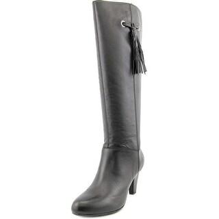 Bandolino Bacia Women Round Toe Leather Black Knee High Boot