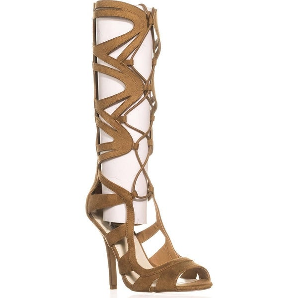 Chelsea & Zoe Carass Knee High Gladiator Sandals, Camel