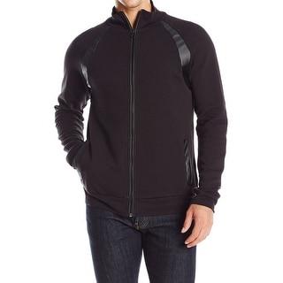 Kenneth Cole Reaction NEW Black Mens Size Medium M Full Zip Sweater
