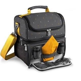 Picnic Time 512-80-322-000-0 Pranzo Lunch Tote - Gray & Yellow
