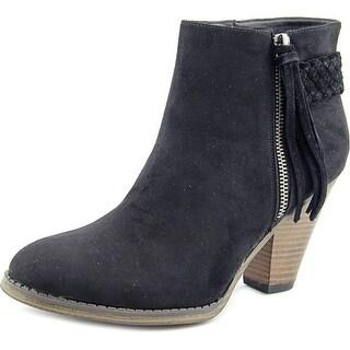 Mia Finnegan Women Round Toe Synthetic Black Ankle Boot