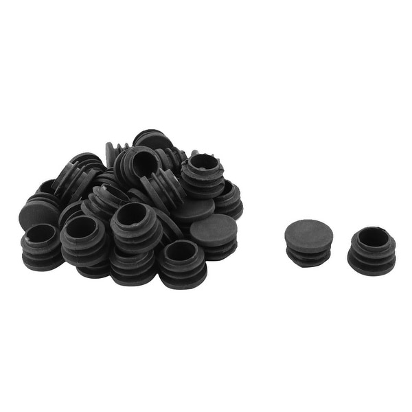 Plastic Round Shaped Furniture Chair Foot Tube Inserts End Blanking Cap 30 Pcs